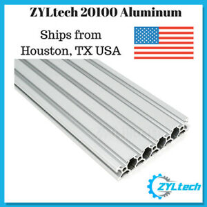 Zyltech 20100 Aluminum T slot Aluminum Extrusion 1000mm 1m Cnc 3d Printer