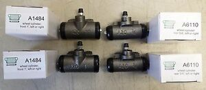 Jeep Willys Cj2a Cj3a A1484 A6110 New Wheel Cylinder Set Qt4 G740 G503