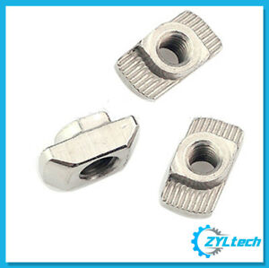 100x Zyltech Hammer Nuts t slot For 2020 Aluminum Extrusion M4 Or M5