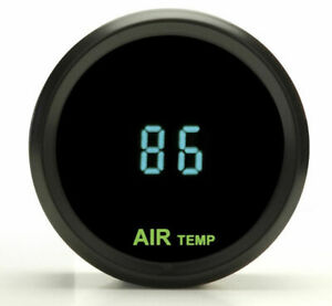 Dakota Round Outside Ambient Air Temperature Gauge Teal Odyr 14 1 New