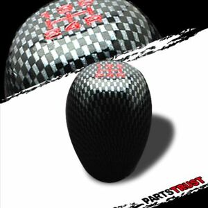 Universal Jdm Carbon Look 5 Speed Type R Style Manual Gear Shift Knob