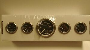 Equus 7500 Streetrod hotrod 5 Gauge Mechanical Gauge Kit Chevy ford mopar