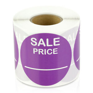 Sale Price 2 Round Violet Pricing Retail Store Stickers Tags Stickers 10rolls
