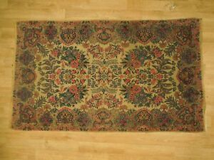 Persian Rug Rug 3x5 Pre Owned Cream Rich Floral Handmade