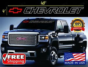 Chevrolet Windshield Decal Vinyl Sticker Any Chevy Truck T Shirt Availabe