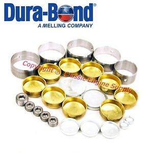 New Performance Cam Bearings Brass Freeze Plugs 1957 1978 Chrysler 318 340 360