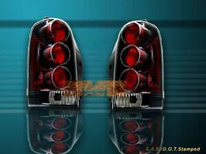 97 04 Montana Venture Olds Silhouette Tail Lights Black 98 99 00 01 02 03