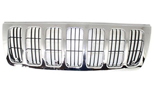 Grill Grille Jeep Grand Cherokee 2003 2002 2001 2000 1999 Free Express Shipping