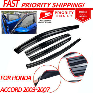 For Honda Accord 2003 2004 2005 2006 2007 Car 4pcs Window Visor Vent Shade Guard