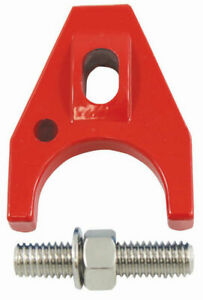 Hot Rod Red Painted Aluminum Distributor Hold Down Clamp Sbc 350 Bbc 454