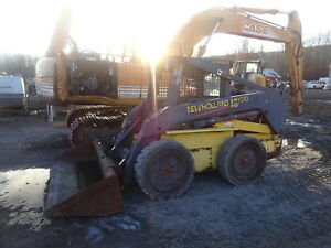 New Holland Ls190 Skid Steer Loader Runs Mint Ls 190 Skidsteer Solid Tires