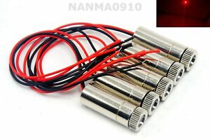 5pcs Focusable Adjustable 30mw 650nm Red Dot Ray Laser Diode Module 3v 5v