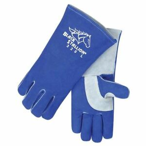 Revco 320 l Large Cushioncore Split Cowhide Stick Welding Gloves pack 3