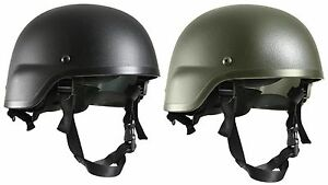 Rothco ABS Mich 2000 Replica Tactical Helmet Black OD Plastic Airsoft Helmets $29.99