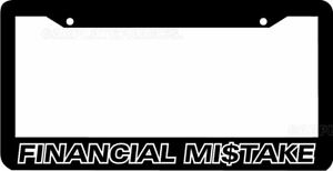 Financial Mistake Lowered Jdm Funny Low Slow License Plate Frame