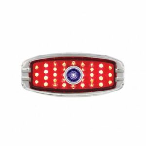 1941 48 Chevy Car Led Tail Light W Blue Dot Flush Mount And Chrome Bezel