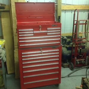 Mac Tools Professional 88 Top Bottom Roller Tool Box Chest 33 10 8 Drawer