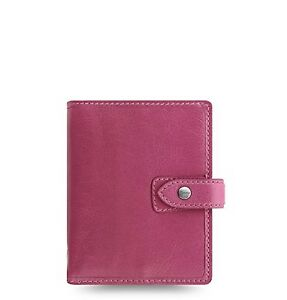 Filofax Weekly Daily Planner Leather Malden Fuchsia Pocket Organizer Agenda 2