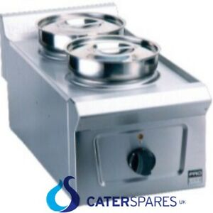 Falcon Ld33 Pro lite Stainless Steel Two Pot Bain Marie Table Top 13a Plug