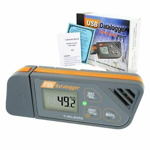 Waterproof Digital Led Usb Data Logger Humidity Barometric Measuring Pressure