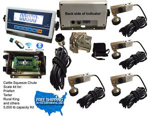 Livestock Scale Kit Cattle Hogs Squeeze Chute Kit With Data Software Bluetooth