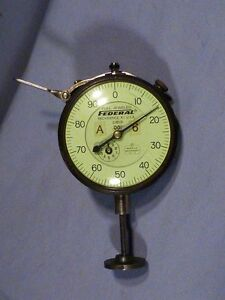 Federal 2 1 2 Drop Dial Indicator With Spindle Lift
