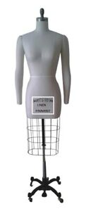 Professional Female Mannequin Dress Form W heavy Base Arms Size 0 ncs 0 2