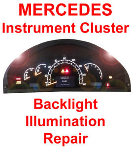 Mercedes W220 Speedometer Instrument Gauge Cluster Backlight Back Light Repair