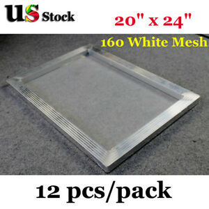 12pcs 20 X 24 Aluminum Frame Screen Printing With 160 Mesh Usa Free Ship