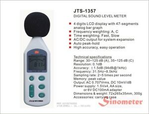 Intellisafe Jts1357 Sinometer Digital Sound Level Meter