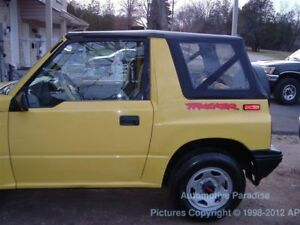 Tinted 95 98 Suzuki Sidekick Geo Tracker Soft Top Black