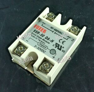 Solid State Relay Ssr 50da h 50a Ssr 50da H Dc To Ac Relay Solid State