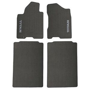 2004 2007 Nissan Titan Crew Cab Gray Carpeted Floor Mats Front Rear Oem New