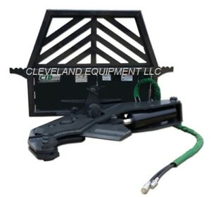 New Cid Tree Shear Attachment Skid Steer Loader Log Wood Cutter Caterpillar Case