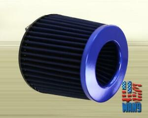 4 Inch Dry Cone Style Performance Air Filter For Cold And Short Ram Intakes Blue