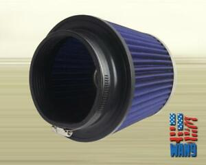 4 Inch Dry Cone Style Performance Air Filter For Cold And Short Ram Silver Blue