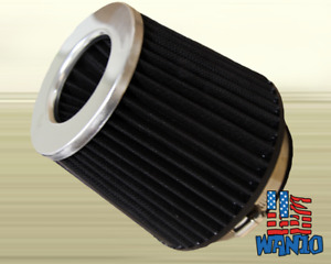 4 Inch Dry Cone Style Performance Air Filter For Cold And Short Ram Silver Black