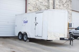 Walk In Refrigerated Trailer Cold Cubed 15 x6 Interior Working Great