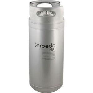 Torpedo Keg 5 Gallon Stackable Stainless Steel Ball Lock Kegs W rolled Handles