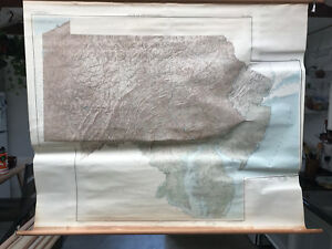 Pennsylvania Maryland Delaware New Jersey Shaded Relief Usgs Classroom Map