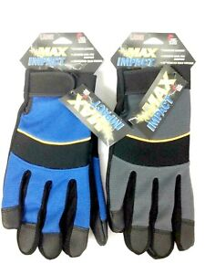 12 Pairs Midwest Max Impact Performance Leather Palm Work Gloves Large