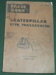 Cat Caterpillar 977k Traxcavator Track Loader Parts Book Manual S n 46h1 99999