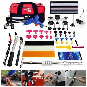 Fly5d 65pcs Auto Body Paintless Dent Removal Repair Tools Kits Silde Hammer