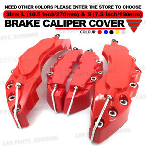 4x Red 3d Brake Caliper Covers Style Disc Universal Car Front Rear Kits L S Wl01