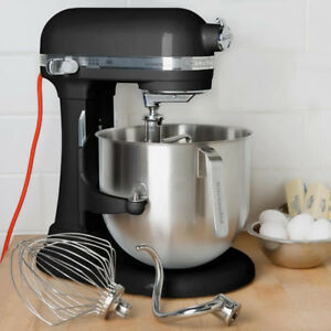 Kitchen Aid Ksm8990ob Onyx Black Nsf 8 Qt Bowl Lift Commercial Countertop Mixer