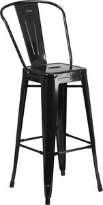 Brand New Black Commercial Indoor Metal Barstool Restaurant Furniture Seating