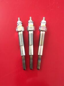 3 Glow Plugs For Ih International 234 244 254