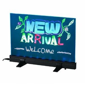 Flashing Illuminated Erasable Neon Led Message Menu Sign Writing Board W Stands