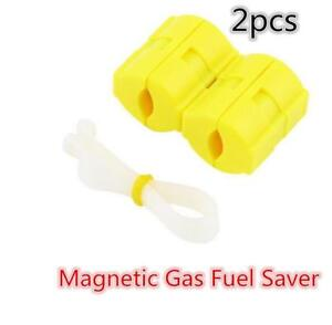 Pair Magnetic Fuel Gas Oil Saver Save For Car Truck Boat Motor Truck Saving 2pc