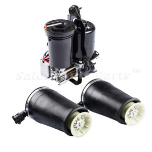 2 air Spring Bags Air Compressor Pump For 03 11 Lincoln Town Car Ford W dryer